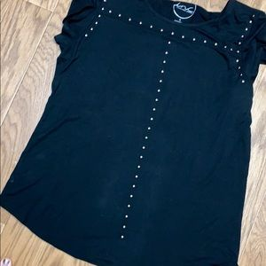 INC International Concepts Tops - Black studded INC top
